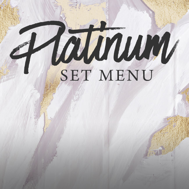 Platinum set menu at The Sheep Heid Inn