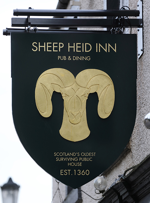 A little about The Sheep Heid Inn